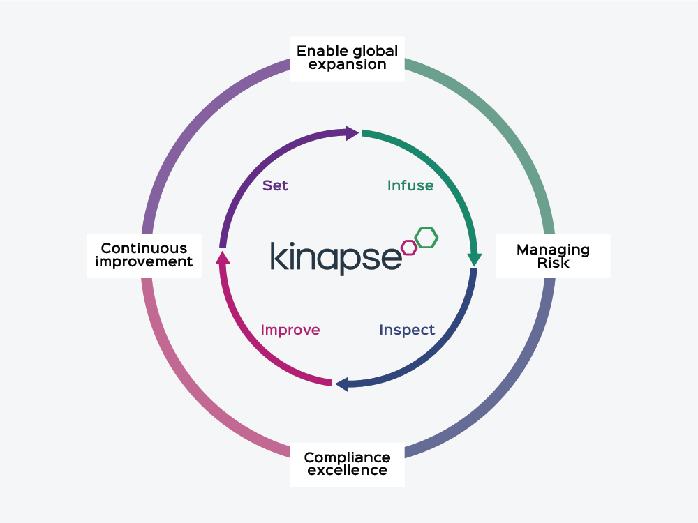 The Pharmaceutical Quality and Compliance process from Kinapse.